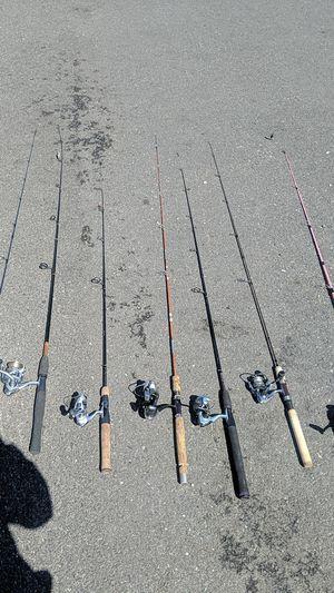 Fishing rods + reels for Sale in Monroe, WA