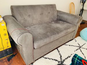 Grey suede couch for Sale in Los Angeles, CA