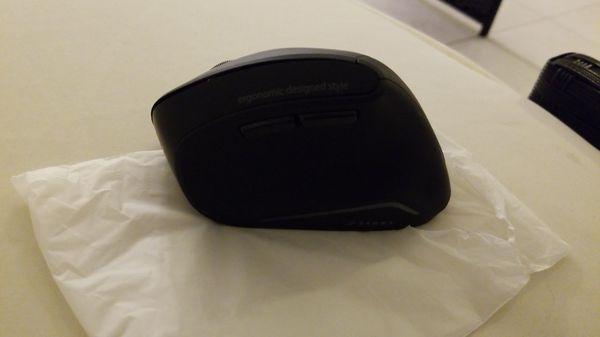 SANWA Bluetooth Mouse- Vertical Ergonomic Design, Blue LED Optical Mice, 800/1200/1600 DPI, 6 Buttons, Bluetooth 3.0