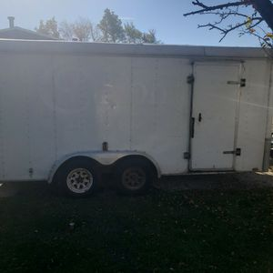 7 X 16 Tandem Axle Enclosed Trailer for Sale in Lockport, IL