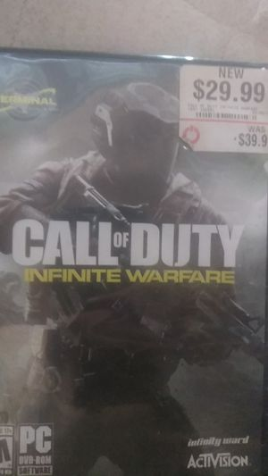 Call Of Duty Infinite Warfare, for P. C., all discs are available, also. for Sale in Corona, CA