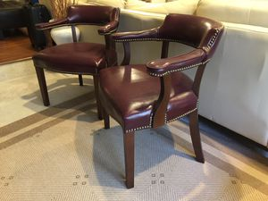 Leather Armchair Set for Sale in Fort Belvoir, VA