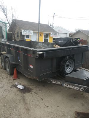 2011 track bobcat t190 and 2018 dump trailer. for Sale in Mesquite, TX
