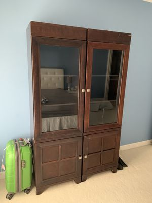 Bookcase. Shelves. Glass doors. for Sale in Fairfax, VA