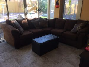 Sectional Round Micro Fiber Sofa for Sale in Chandler, AZ