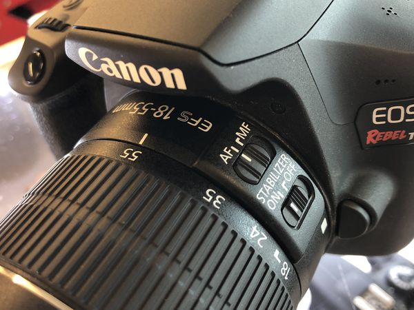 Canon EOS Rebel T6 with EFS Lens, Charger and Bag