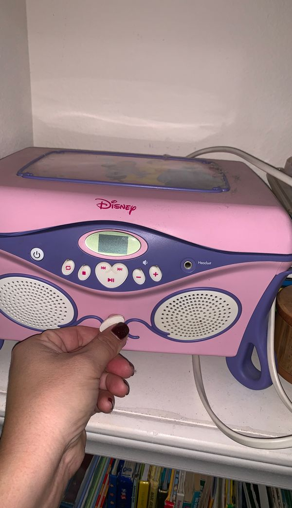 Disney princess CD player and jewelry box