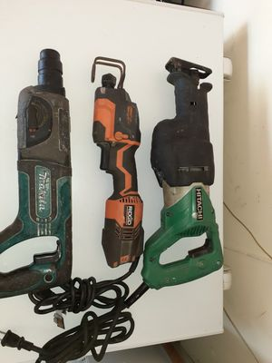 Hitachi Sawzall, Ridgid Sawzall, and Makita Hammer Drill for Sale in Princeton, FL