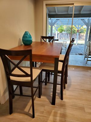 Matching set of 4 wooden chairs- table NOT included for Sale in Walnut Creek, CA
