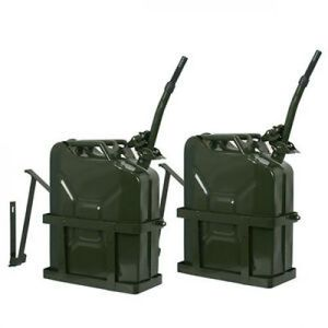 5Gal 20L Army Backup Jerry Can Gasoline Fuel Can Metal Tank Emergency + Holder for Sale in Wildomar, CA