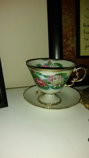 Antique Fine Bone China Tea Cup with 14K Gold Trim for Sale in Beech Grove, IN