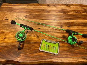 13 Fishing Pickle Ice Fishing Rods // Frostbite Jigging Lures for Sale in Haworth, NJ