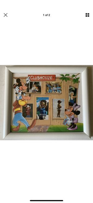Disney Mickey Mouse Clubhouse White Picture Frame 13.5 x 11 inch for Sale in Lomita, CA