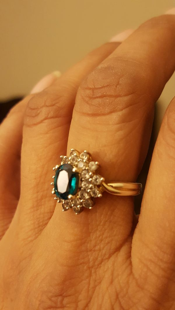 Diamonique ring and earrings will not tarnish