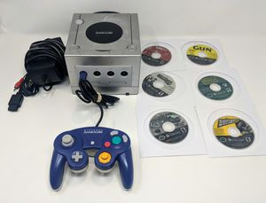 Tested! Nintendo GAME CUBE Platinum w oem controller, all necessary Cables, & 6 games! for Sale in Phoenix, AZ