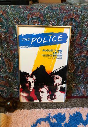 Police poster in frame 1983 for Sale in Tampa, FL