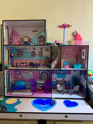 LOL DOLLHOUSE (wooden) 3 feet tall and 3 feet wide for Sale in Inglewood, CA