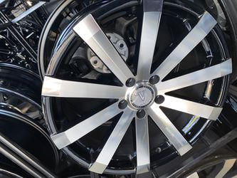 Velocity rims 5x112 rims with tires full package for Sale in Troy,  MI