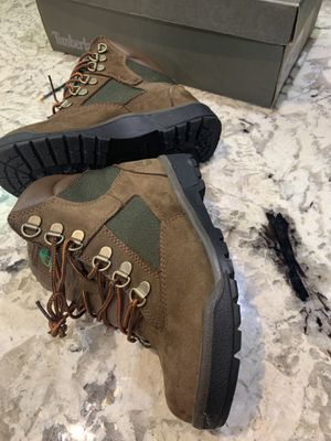 KIDS BOYS SIZE 2 TIMBERLAND 6in FIELD WATERPROOF BOOTS BROWN for Sale in Washington, DC