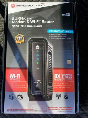 Motorola SBG6580 SURFboard 343 Mbps 4 Port Gigabit Wireless Cable Modem - Black for Sale in Queen Creek, AZ