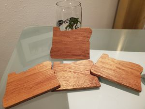 Set of 4 Mahogany Oregon coasters for Sale in Portland, OR
