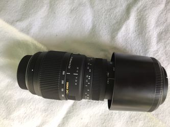 Sigma 70-300mm lense for Nikon cameras for Sale in San Mateo,  CA