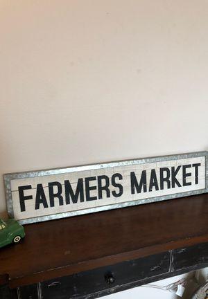 Farmer's Market Sign for Sale in Tacoma, WA