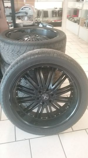 "24"" rims black for Sale in Newport News, VA"