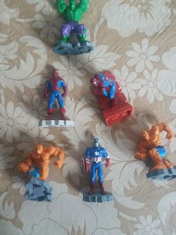 Marvel Toy Lot Spiderman Hulk Thing Captain America for Sale in Larchmont,  NY