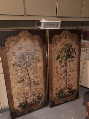 2 decorative wood panels for Sale in Houston, TX
