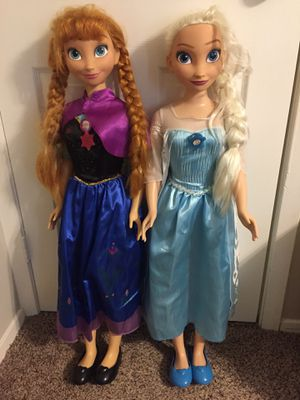 My Size Anna and Elsa Dolls for Sale in Humble, TX