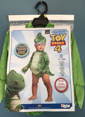 DISNEY TOY STORY4 REX COSTUME GREAT FOR BIRTHDAY OR DRESS UP BABY SIZE 12-18 MONTHS for Sale in Rialto, CA