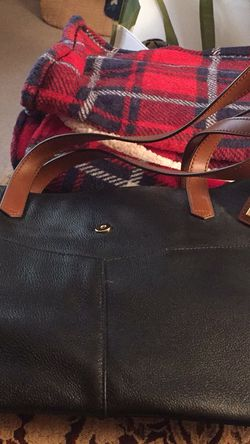 Black Leather Ralph Lauren Landrey Simple Tote for Sale in Greensburg,  PA