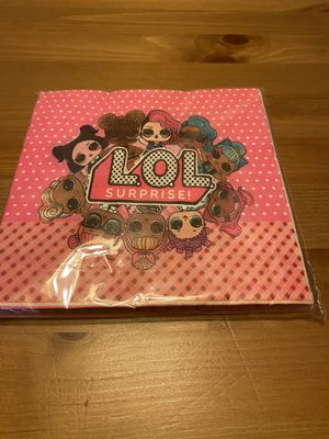 LOL Surprise Party Napkins 20 Count for Sale in West Covina, CA