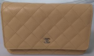 Chanel Wallet on Chain Beige Leather Bag for Sale in Marina del Rey, CA