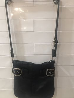 Coach Pebbled Black Leather Crossbody Purse Buckles for Sale in Pittsburgh,  PA