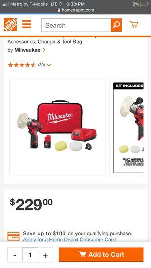 Milwaukee sander polisher for Sale in Palo Alto, CA