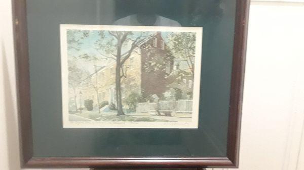 Painting of Robert E. Lee childhood home Alexandria va