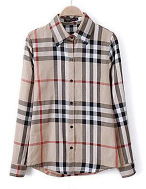 Fuaxburry shirt women's Large looks like Burberry for Sale in San Marino, CA