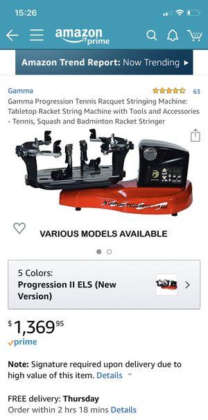 Gamma Progression ELS Stringing Machine for Sale in Hightstown, NJ