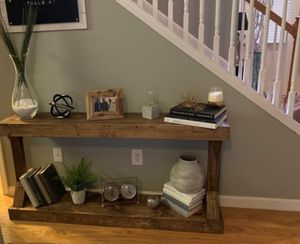 New!! Side table, end table, entrance table, shelving display, bookcase, organizer, storage unit, living room furniture, entrance furniture, dark wal for Sale in Phoenix, AZ