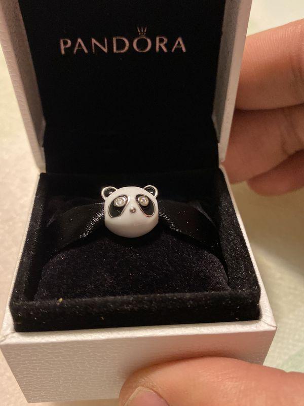 Pandora compatible silver charm panda