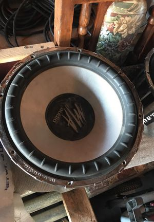 MA audio 2 15' subwoofers 1200 watts 4ohms for Sale in Fresno, CA