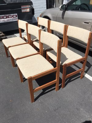 Set of Six Mid century Dinner chairs for Sale in San Diego, CA