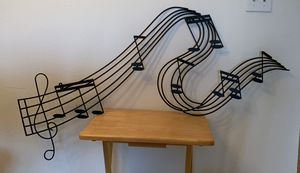 Music notes sign decor picture for Sale in Coral Springs, FL