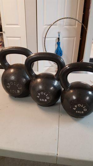 44, 53, 80 lb high end Apollo kettlebells for Sale in Santa Clarita, CA