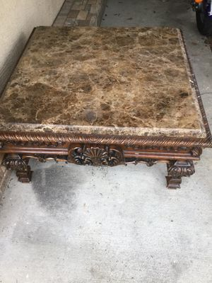 Granite coffee table and end table for Sale in Tarpon Springs, FL