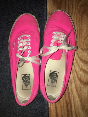 Pink vans size 10 for Sale in Morgantown, WV