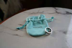 Tiffany Essential Band Double Milgrain Ring - Platinum Size 8.5 for Sale in Largo, FL