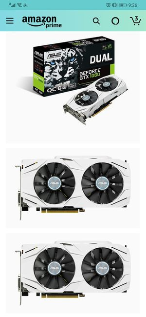 ASUS GeForce GTX 1060 6GB Dual-Fan OC Edition VR Ready Dual HDMI DP 1.4 Gaming Graphics Card (DUAL-GTX1060-O6G) for Sale in Mill Creek, WA